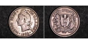 1/2 Песо Доминиканская Республика Серебро