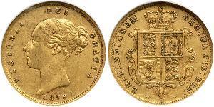 1/2 Соверен Австралія (1788 - 1939) Золото Вікторія (1819 - 1901)