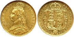 1/2 Соверен Велика Британія  Золото Вікторія (1819 - 1901)