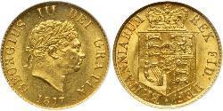 1/2 Соверен Соединённое королевство Великобритании и Ирландии (1801-1922) Золото Георг III (1738-1820)