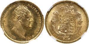 1/2 Соверен Соединённое королевство Великобритании и Ирландии (1801-1922) Золото Вильгельм IV (1765-1837)