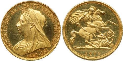 1/2 Соверен Соединённое королевство Великобритании и Ирландии (1801-1922) Золото Виктория (1819 - 1901)