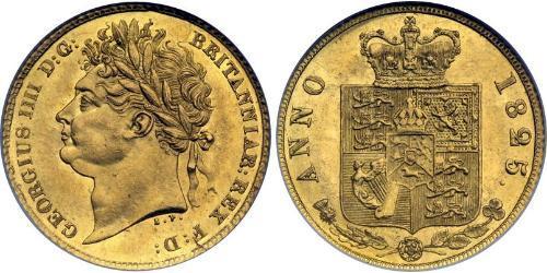 1/2 Соверен Соединённое королевство Великобритании и Ирландии (1801-1922) Золото Георг IV (1762-1830)