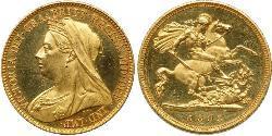 1/2 Соверен Сполучене королівство Великобританії та Ірландії (1801-1922) Золото Вікторія (1819 - 1901)