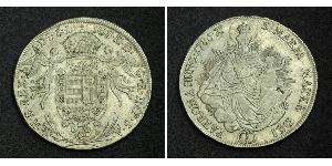 1/2 Талер Королевство Венгрия (1000-1918) Серебро Joseph II, Holy Roman Emperor  (1741 - 1790)