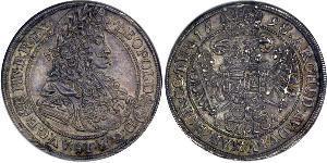 1/2 Талер Королевство Венгрия (1000-1918) Серебро Леопольд I (император Священной Римской империи)(1640-1705)