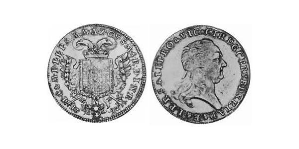 1/2 Талер Баварія (курфюрство) (1623 - 1806) Срібло