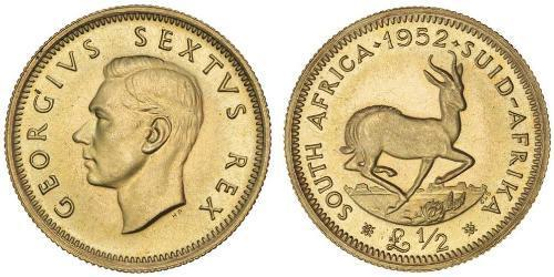 1/2 Фунт Южно-Африканская Республика Золото Георг VI (1895-1952)