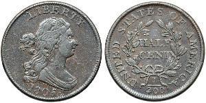 1/2 Цент США (1776 - ) Медь