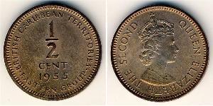 1/2 Цент   Елизавета II (1926-)