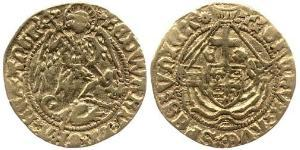 1/2 Angel Kingdom of England (927-1649,1660-1707) Gold Edward IV (1442-1483)