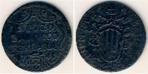 1/2 Baiocco Papal States (752-1870) Copper