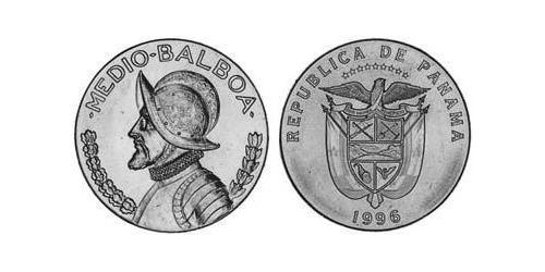 1/2 Balboa Panamá Níquel/Cobre Vasco Núñez de Balboa (1475 – 1519)