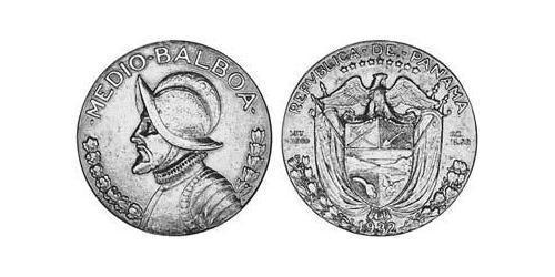 1/2 Balboa Panamá Plata Vasco Núñez de Balboa (1475 – 1519)