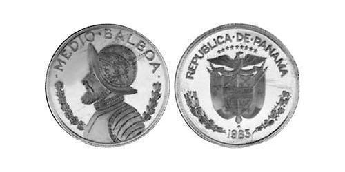 1/2 Balboa Panamá Rame/Nichel Vasco Núñez de Balboa (1475 – 1519)