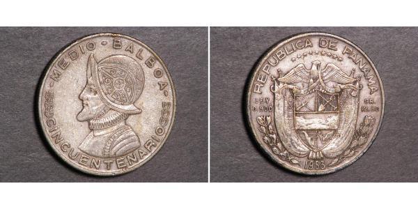 1/2 Balboa Panama Silber Vasco Núñez de Balboa (1475 – 1519)