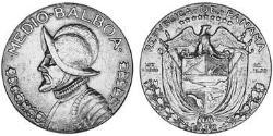 1/2 Balboa Republic of Panama Silver Vasco Núñez de Balboa (1475 – 1519)