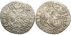 1/2 Batz States of Germany Plata Rodolfo II (1552 - 1612)