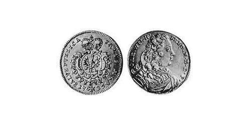 1/2 Carolin Ансбах (княжество) (1398–1792) Золото Charles William Frederick, Margrave of Brandenburg-Ansbach (1712 – 1757)