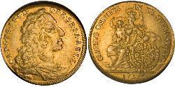 1/2 Carolin Electorate of Bavaria (1623 - 1806) Oro