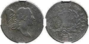 1/2 Cent 美利堅合眾國 (1776 - ) 銅
