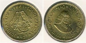 1/2 Cent South Africa 黃銅