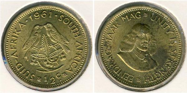 1/2 Cent South Africa Brass