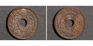 1/2 Cent Indochina francesa (1887-1954) Bronce