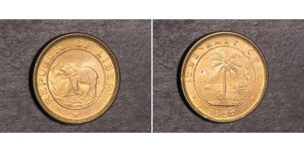 1/2 Cent Liberia Bronce