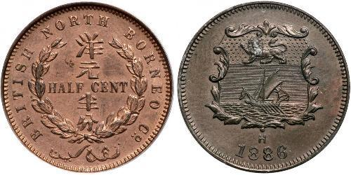 1/2 Cent North Borneo (1882-1963) Bronze