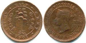 1/2 Cent Sri Lanka/Ceylon Copper