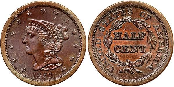 1/2 Cent USA (1776 - ) Copper