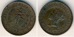 1/2 Cent Sri Lanka Kupfer