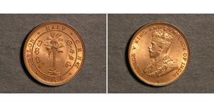 1/2 Cent Sri Lanka Kupfer George V (1865-1936)