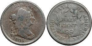 1/2 Cent Vereinigten Staaten von Amerika (1776 - ) Kupfer