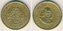 1/2 Cent Südafrika Messing