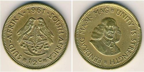 1/2 Cent Südafrika Messing