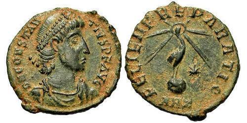 1/2 Centenionalis Римская империя (27BC-395) Бронза Констант I (320-350)