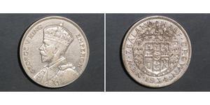 1/2 Corona Nuova Zelanda Argento Giorgio V (1865-1936)