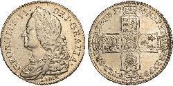1/2 Crown 大不列顛王國 (1707 - 1800) 金 乔治二世 (大不列颠) (1683 - 1760)