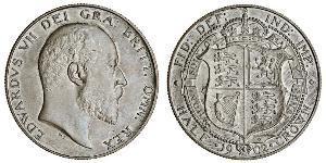 1/2 Crown 大不列颠及爱尔兰联合王国 (1801 - 1922) 銀 爱德华七世 (1841-1910)