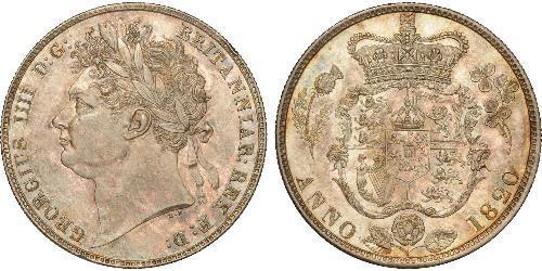 1/2 Crown 大不列颠及爱尔兰联合王国 (1801 - 1922) 銀 喬治四世 (1762-1830)