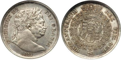 1/2 Crown 大不列颠及爱尔兰联合王国 (1801 - 1922) 銀 喬治三世 (1738-1820)