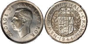 1/2 Crown 新西兰 銀 乔治六世 (1895-1952)