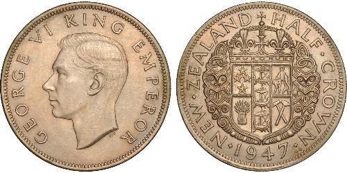 1/2 Crown 新西兰 銅/镍 乔治六世 (1895-1952)