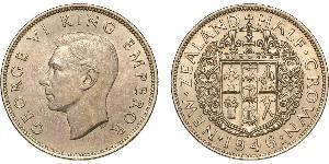 1/2 Crown Nouvelle-Zélande Argent George VI (1895-1952)