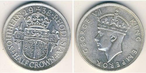 1/2 Crown Southern Rhodesia (1923-1980) Argent George VI (1895-1952)