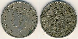 1/2 Crown Southern Rhodesia (1923-1980) Copper/Nickel George VI (1895-1952)