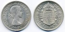 1/2 Crown United Kingdom (1922-) Copper/Nickel Elizabeth II (1926-)