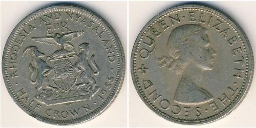 1/2 Crown Rhodesien (1965 - 1979) Kupfer